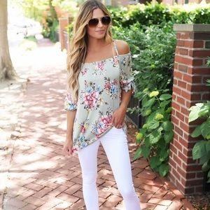 Dottie Couture Boutique Floral off shoulder Top